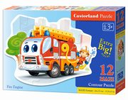 Puzzle MAXI Konturowe:	Fire Engine12,