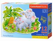 Puzzle 12 MAXI Konturowe:	Playing Elephants,