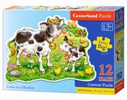 Puzzle  MAXI Konturowe: 	Cows on a Meadow 12,