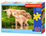 Puzzle 60 Puppies by the River,